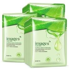 Masque Facial hydratant à l'aloe, soins pour la peau, masque coréen en soie, pack de cosmétiques, mascara, acné