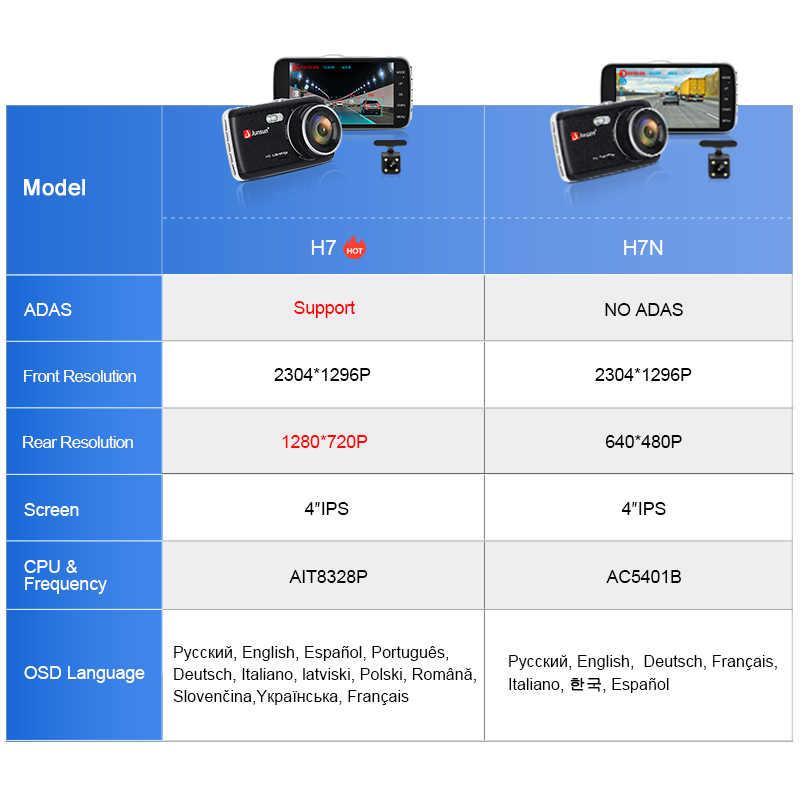 Junsun H7 ADAS 1296P HD Автомобильный видеорегистратор камера видеорегистратор 4 дюйма ips Двойной объектив 1080P видео регистратор с ночным видением Автомобильный видеорегистратор s