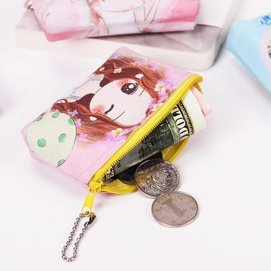 Menina Coin Bolsas Mulheres Carteiras Titular do Cartão Pequeno Bonito do Animal Dos Desenhos Animados Bag Chave Bolsa de Dinheiro Bolsas para Senhoras Meninas Bolsa Crianças crianças