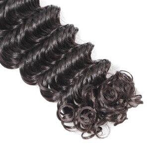 Image 5 - Human Hair Weave Bundles Deep Wave Brazilian Short Natural Color Remy Hair Extension Long for Black Women 3 Bundles 28 inch