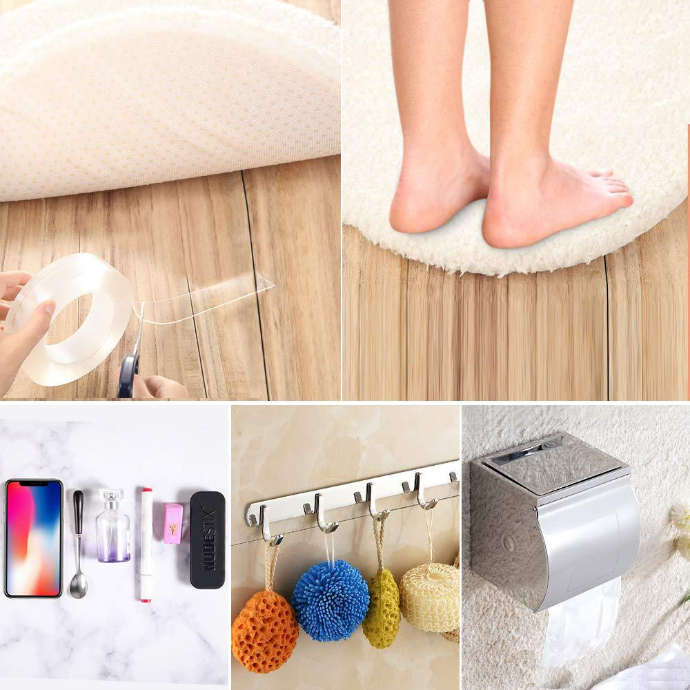 1/2/3/6m Double-Sided Adhesive Nano Magic Tape Traceless Reusable Removable Sticker Washable Adhesive Home Improvement Bathroom 6