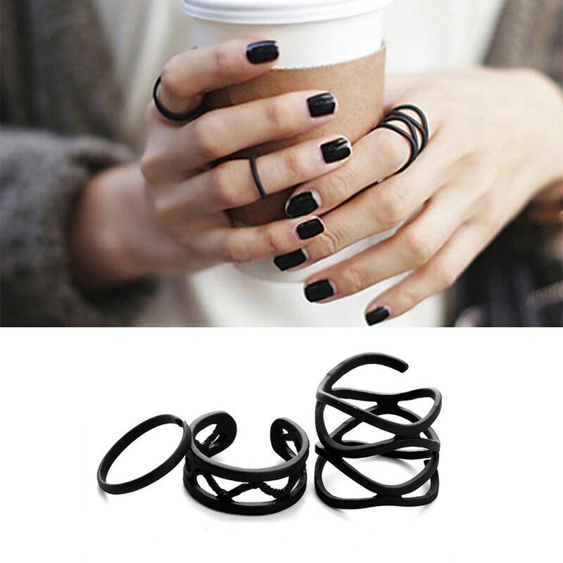 3 шт., многослойные кольца на палец в стиле панк