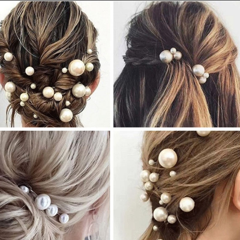 Свадебные аксессуары для волос, 18 шт./лот, заколки для волос с имитацией жемчуга золотого и серебряного цвета, украшения для волос
