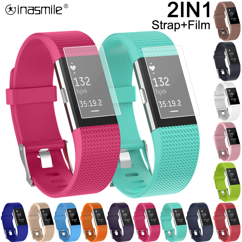 Strap For Fitbit Charge 2 Band Correa Bracelet For Fitbit Charge 2 Strap Wristband For Fitbit Charge 2 Screen Protector Film