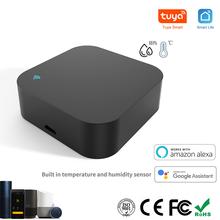 Tuya Smart IR Fernbedienung Gebaut-in Temperatur und Feuchtigkeit Sensor für Klimaanlage TV DVD AC Arbeitet mit alexa, google Hause