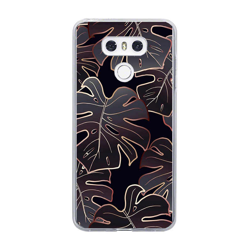 ciciber Phone Case For LG G6 G7 G5 G4 V20 V30 V35 V40 THINQ Soft For LG K8 K7 K10 K4 K9 K11 2017 2018 Plus Coque Tree Leaves