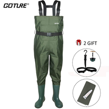 Chest-Waders Goture Bootfoot Kids Durable PVC Child with for Toddler And Age 2-13 Lightweight