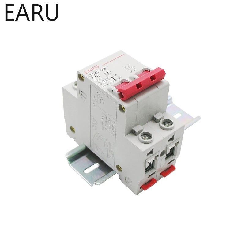 H247472c38e284bb1b2ad9f1fddc30655F - C45N 2 Pole 3A/6A/10A/16A/20A/32A/40A/50A/63A 400V~ C Type Mini Circuit Breaker Mcb Mounting 35mm Din Rail Breaking Capacity 6KA