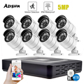 Камера видеонаблюдения AZISHN H.265 +, 8 каналов, 5 МП, 5 МП, водонепроницаемая, IP66