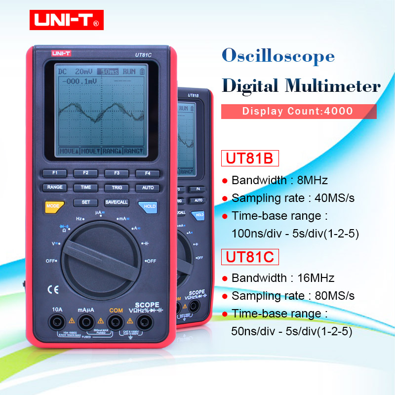 PLC Processors Scope Digital Multimeters 16MHz 80MS/s,Handheld ...