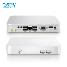 XCY Mini PC Intel Celeron J1900 N2810 Computer Minipc Office Compute Linux Win 10 7 HDMI WIFI USB Minipc Linux Thin Client Micro