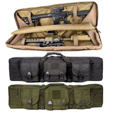 Wojskowy 36 cal podwójne karabin torba karabinek plecak dla M4 AK47 Airsoft torba przenośna fotografowania ochronna polowania kabura