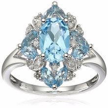 925 пробы серебряные кольца с бриллиантами для женщин сапфир