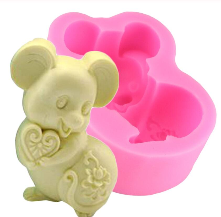 Mouse Silicone Soap Mold DIY Handmade Craft 3D Soap Molds Cake Mold Chocolate Mold