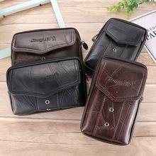Purse Holster Wallet Waist-Bag Phone-Pouch Hip-Belt Vintage Loop Carry-Case Men