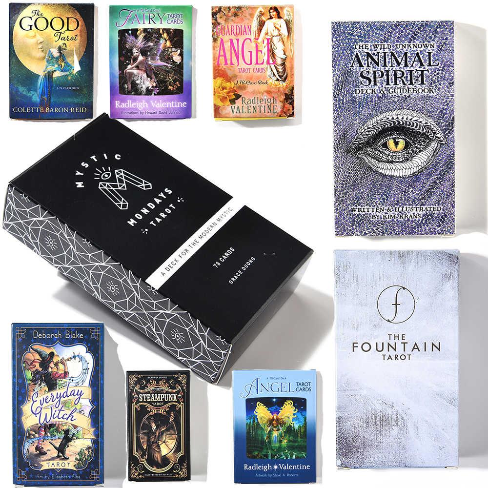Liar Tidak Diketahui Animal Spirit Pesan Dek Tarot Nubuat Kartu Sehari-hari Penyihir Guanrdian Angel Steampunk Air Mancur Moonology