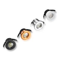 LED COB Downlight Super petit 3W COB 85 ~ 265V rond encastré LED Spot pour magasin intérieur comptoir maison cuisine éclairage