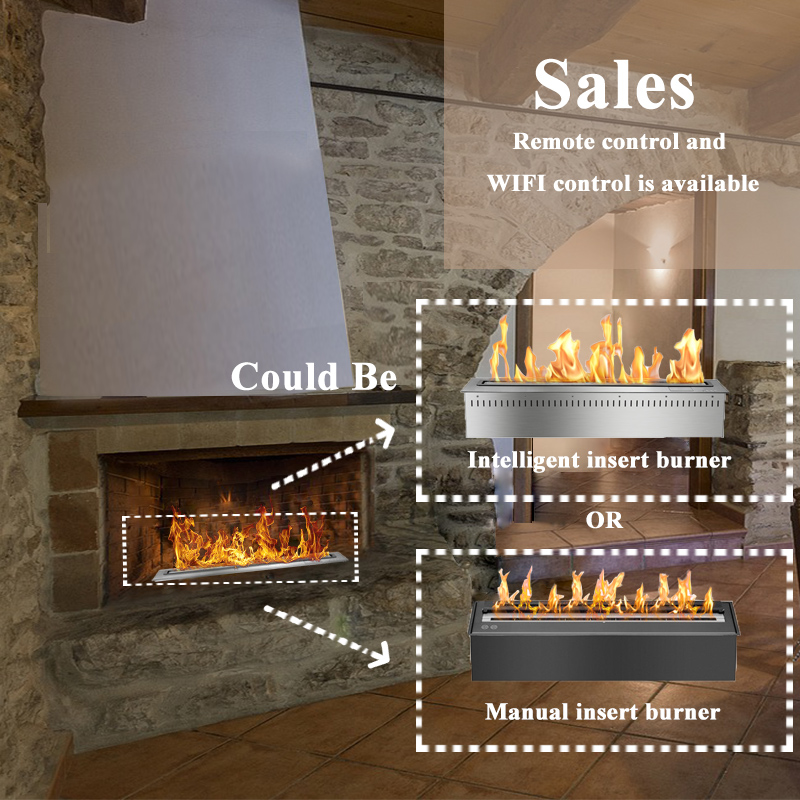 30 Inch Ethanol Burner Fireplace Outdoor Modern