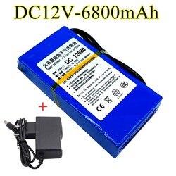 100% DC 12v 6800mah, 12.6V 6800mah batterie au lithium rechargeable pour détecteur infrarouge sans fil + chargeur
