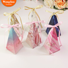 50Pcs Candy Box With Robbin Happy Birthday Party Table Decoration Christmas Gift Letter Especially for You