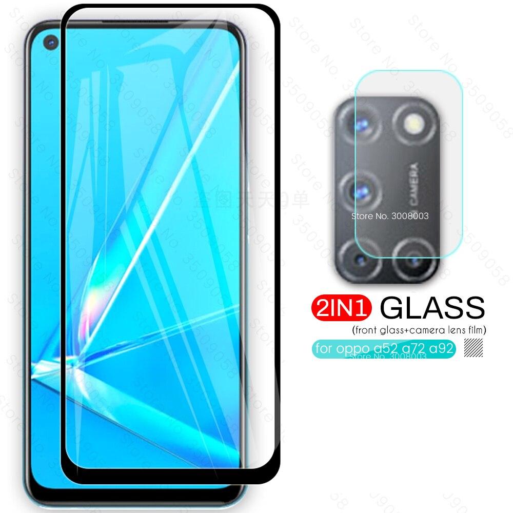 Para oppo a52 2020 lente da câmera de vidro de proteção para oppo a52 a72 a92 2020 telefone tremp folha filme appo a 52 72 92 52a 72a