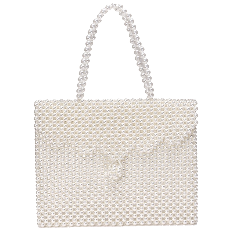 New Pearl Bag Korean Version Of The Tide Pearl Handbag Flip Cover Clutch