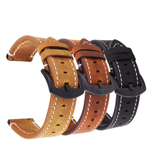 Leather Watch Strap Genuine 22mm Watch Band 20mm 18mm Watch Strap Leather Watch Bracelet Watch Belt Watchband 20mm 22mm 18+ Band uyoung handmade watch strap custom fit the fat sea pa441 watch retro make old ox leather watch belt male