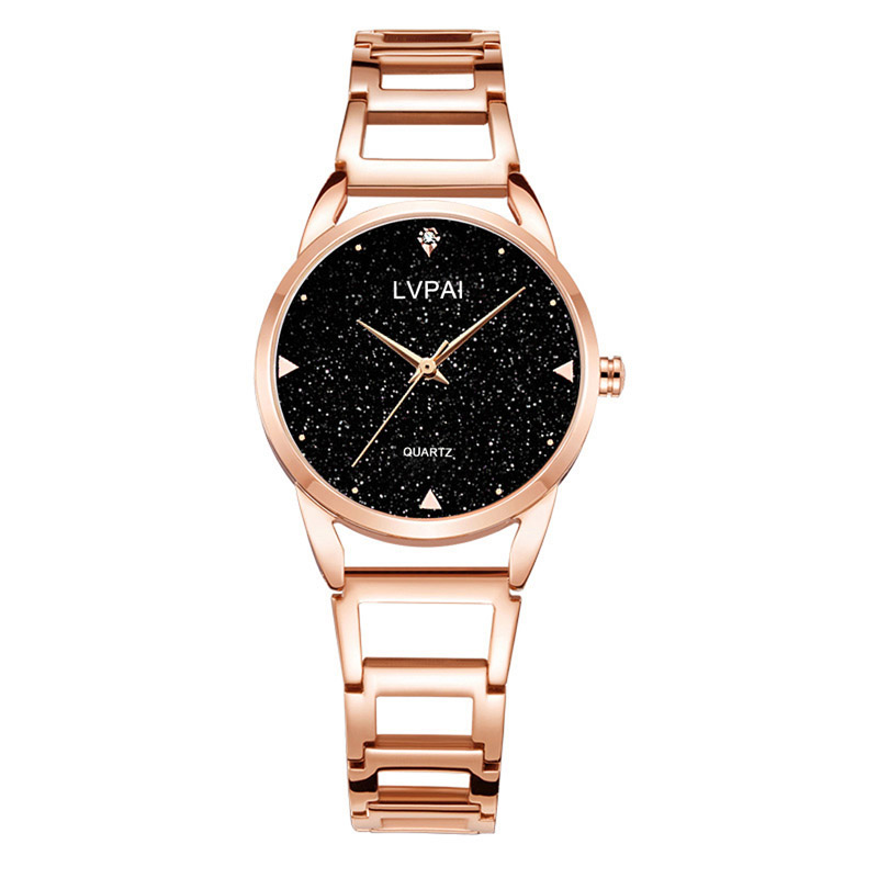 Fashion Quartz Watch Alloy Band Starry Sky Round Dial Wrist Watch For Casual Daily Office LXH
