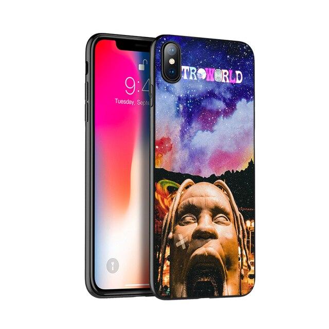 Noir tpu pour iphone 5 5s se 6 6s 7 8 plus x 10 étui en silicone pour iphone XR XS 11 pro MAX cas travis scott astroworld