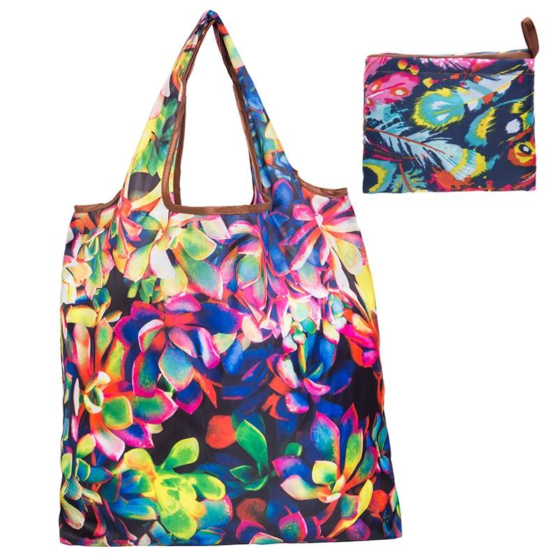 2020 New Folding Shopping Bag Eco Friendly Ladies Gift Foldable Reusable Tote Bag Portable Travel Shoulder Bag Small Size