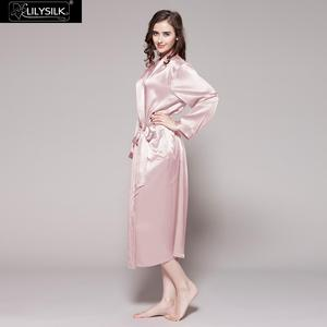 Image 2 - LILYSILK Womens Silk Robe Classic Full Length Long 22 Momme Pure Silk