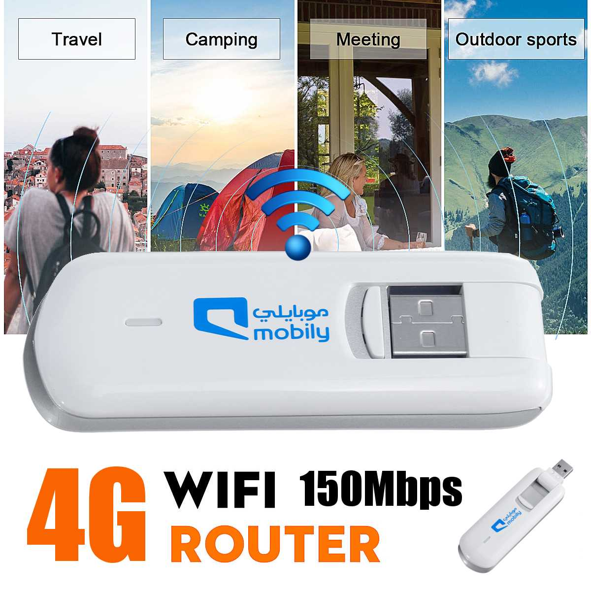 Portable 4G LTE USB Wireless Network Card Modem WiFi Wireless Router Network Dongle Adapter 100Mbps General Equipment