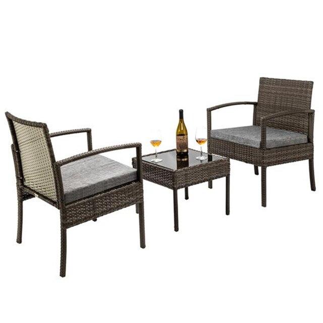 3 Piece Wicker Furniture Set 2
