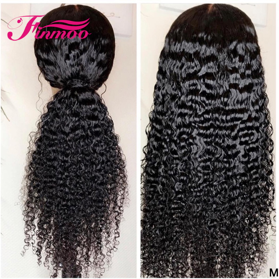 13x6 Lace Front Wig Curly Human Hair Wig For Black Women Pre Plucked Brazilian Remy Hair Deep Parting Lace Front Human Hair Wigs