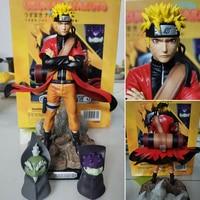 Uzumaki Naruto Sage Mode Action Figure Toys Naruto Shippuden Anime Figurine With Frog Collectible Model Toy Doll 220mm