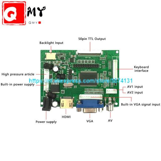 Monitor LCD de pantalla de 10,1x1024 pulgadas con Control remoto, placa de Control 2AV HDMI VGA para Lattepanda,Raspberry Pi Banana Pi