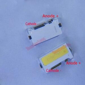 Image 1 - 100 개/몫 가장자리 SMD LED 7032 6V 1W 160mA TV 백라이트에 대 한 멋진 흰색 높은 전원