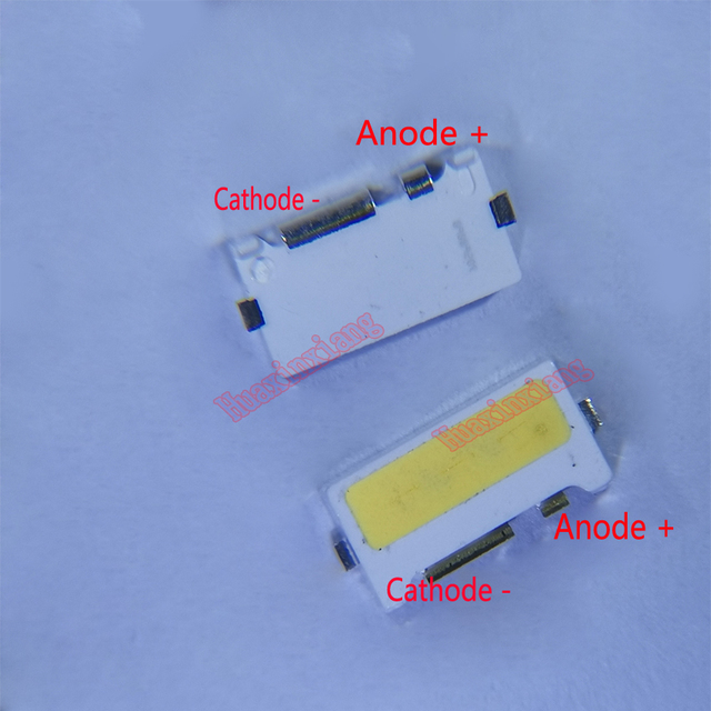 100 Teile/los Rand SMD LED 7032 6V 1W 160mA Kühle Weiße Hohe Leistung Für TV Hintergrundbeleuchtung