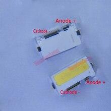100 unids/lote Edge SMD LED 7032 6V 1W 160mA blanco frío de alta potencia para retroiluminación de TV