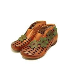 Tayunxing scarpe fatte a mano in vera pelle tacco basso scarpe da donna Comfort Casual Slip-On Retro Lady 022-91A