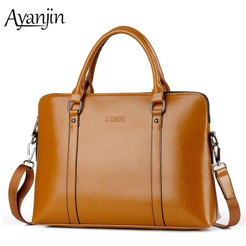 Fashion Laptop Bag For Women 15.6 15 14 13.3 13 Inch Handbag Luxury Quality PU Leather Waterproof Notebook Shoulder Bags 2019