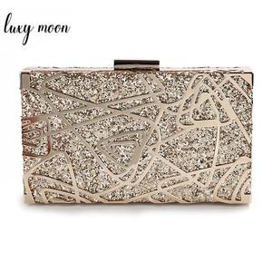 Image 1 - โลหะเรขาคณิตทองคลัทช์คุณภาพสูงเลื่อมคลัทช์กระเป๋าถือหรูผู้หญิงกระเป๋าออกแบบกระเป๋าสะพายZD1349