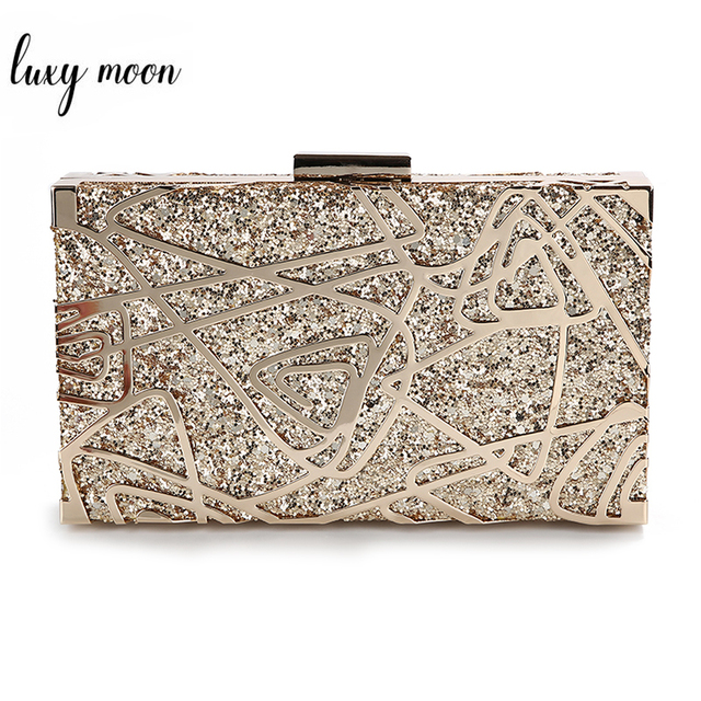 โลหะเรขาคณิตทองคลัทช์คุณภาพสูงเลื่อมคลัทช์กระเป๋าถือหรูผู้หญิงกระเป๋าออกแบบกระเป๋าสะพายZD1349
