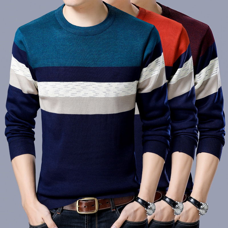 Thick Cotton Sweater Men 2019 Autumn Winter Jersey Jumper Robe Hombre Pull Homme Hiver Pullover Men O-neck Knitted Sweaters