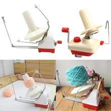 Máquina de tejer enrollador de hilo de mano, línea de cuerda de fibra, bobinado de bolas, enrollador Manual de lana, accesorios de costura, envío rápido