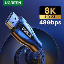Ugreen 2,1 HDMI-kompatibel Kabel 8K @ 60Hz 4K @ 120Hz HDMI-kompatibel Digital kabel High-Speed 48Gbps für Apple TV PS4 8K TV HDR10 +