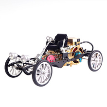 All-metal Single-cylinder Engine High Challenge Simulation Mini Car Assembly Model Creative Gift Model Kit for Adult Children