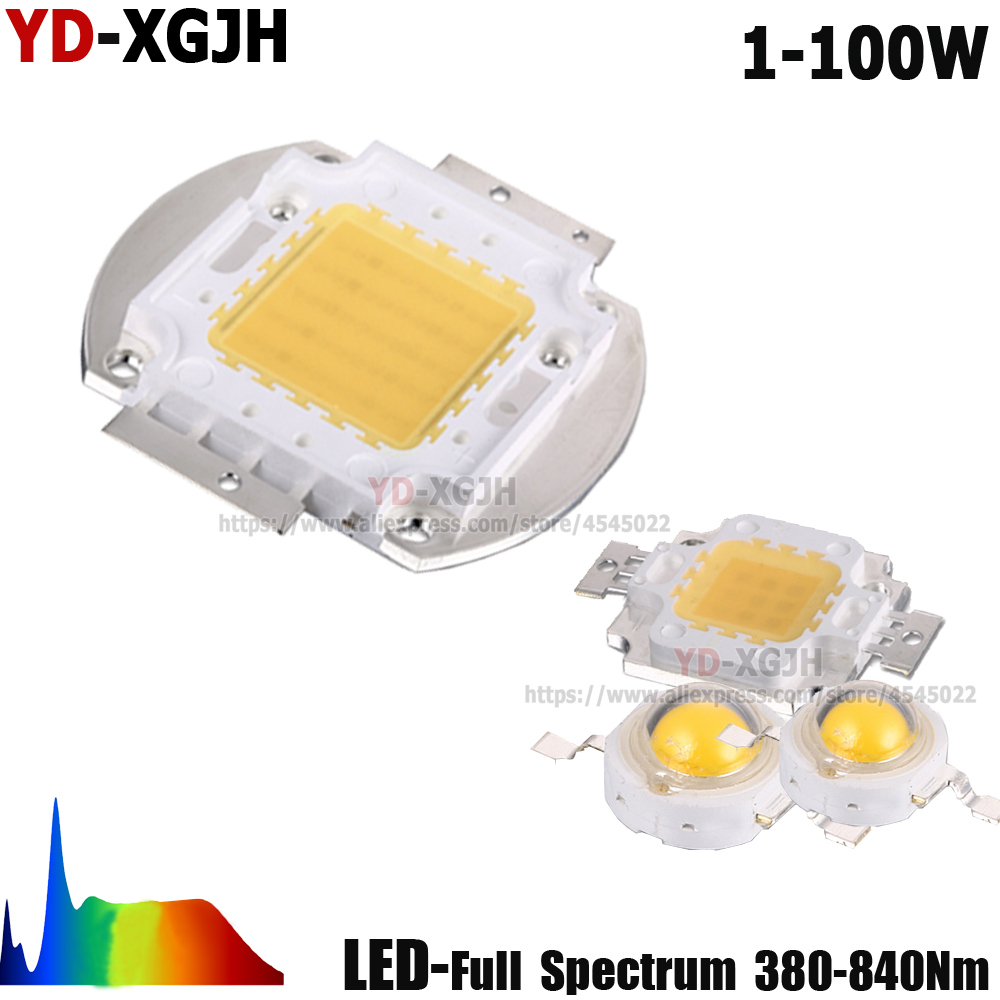 380-840nm Full Spectrum 1W 3W 5W 10W 20W 30W 50W 100W Grow LED Chip COB DIY LED Grow Light For Indoor Plant Growing