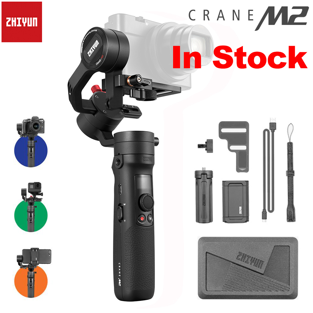 ZHIYUN Official Crane M2 Handheld Stabilizer for Smartphones Compact Mirrorless Action Cameras New Arrival Gimbals 500g