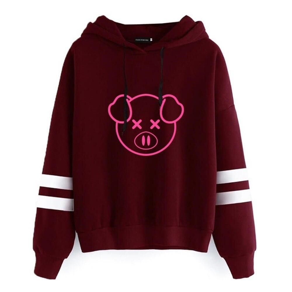 Fahion Women Hoodies Shane Dawson Cute Pig Printed Sweatshirts Casual Fleece Hooded Pullovers